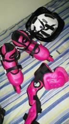 Patins Rollers Inline Rosa