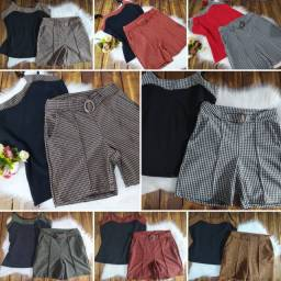 Conjunto M G e GG short roupa feminina