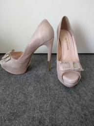 Sapato Couro salto alto Bottero 37 Rosa Pastel