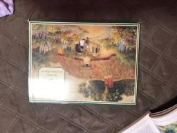 Livros de pintura óleo sobre tela