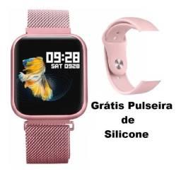 Smartwatch T80 Original + Pulsiera Extra Grátis