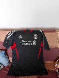 Camisa de Futebol do Liverpool Original Última Temporada com Adidas