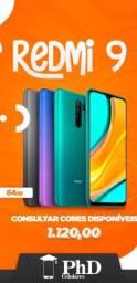 Xiaomi Redmi 9 64gb - Todas as cores - Compre com confiança (Loja física)