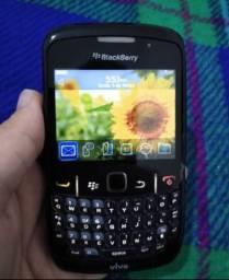 Celular antigo Blackberry Curve 8520 funcionando perfeitamente