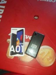 Samsung A01 core na caixa
