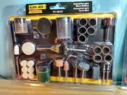 Kit 105 Acessórios para Micro Retífica - Black Jack [Produto Novo/Embalagem Lacrada]