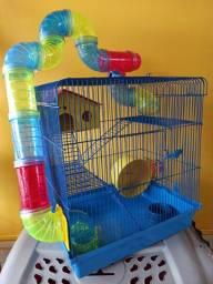 Gaiola para hamster completa nova