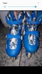 Vendo patins da marca astro  azul masculino