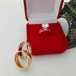 Combo duas alianças e um anel