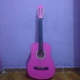 Vendo violão rosa semi-novo