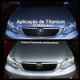 Polimento com aplicação de titanium