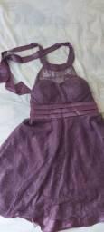 Vestido de casamento lilás