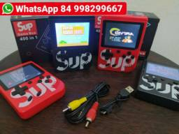 Mini Game Sup Game Box Plus Video Game Portatil 400 Jogos com cabo pra tv
