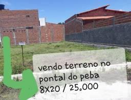 VENDO TERRENO NO PONTAL DO PEBA!