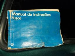 Fusca 1.600 impecavel Manual chave reserva