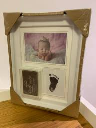 Quadro Porta Retrato Pé e Mão Bebês RN