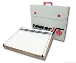 Prancheta portátil A2 com régua paralela Trident