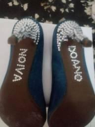 Sapato scarpan de noiva azul royal
