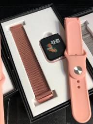 Smartwatch p70 (rose e prata)