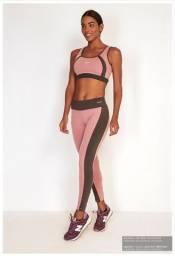 Legging Faixa Lateral Feminina Rosa Nude - 4226006