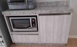 Vendo cozinha, armários em MDF e bancada de mármore