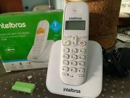 Telefone Intelbras sem fio. Modelo TS 3110