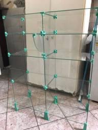 estante de vidro modulado