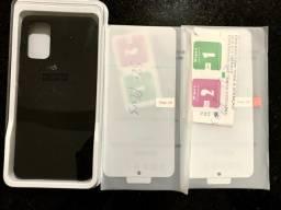 Case Original e Duas películas de silicone para S20 Plus