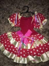 Vendo vestido infantil junino semi novo
