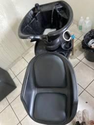 Lavatório  Com Cuba Reclinável Freedom Dompel e 2 Cadeiras Darus