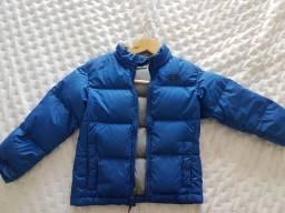 Casaco The North Face azul, tamanho P (5), criança entre 2 a 5 anos.