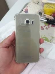 Samsung s6 flat dourado