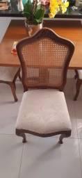 Mesa com 4 cadeiras vintage