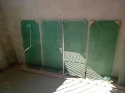 6 janelas de vidro temperado novas verde 8mm