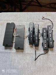 Captadores de baixo - EMG 45DC,  bassline SJ 5S