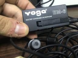 Microfone de lapela com fio Yoga EM-6