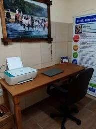 Mesa rústica para escritório