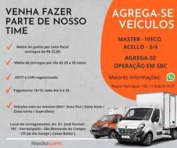 Título do anúncio: Agrega-se operação em SBC (Iveco, Master, Acello, 3/4, etc..)