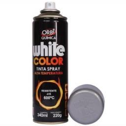 Título do anúncio: White Cocor Tinta Spray Alta Temperatura Prata