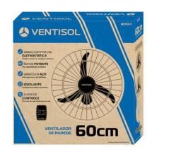 Ventilador de Parede 60cm Bivolt Preto Ventisol