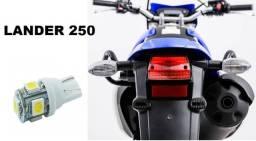 Lâmpada LED T10 Pingo 12V Luz Branca Aplicação Placa Lander