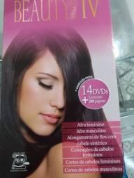 Álbum com 14 DVD mas fotos para você aprender tudo sobre cabelos na área profissional