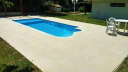 TA - Piscina de fibra 7 metros com prainha - Fabrica Alpino piscinas