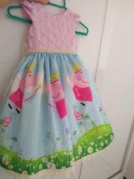 Vestido princesa peppa