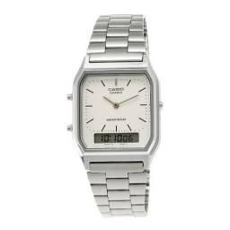 Relógio Casio AQ-230a Prata-Usado