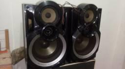 Vendo 2 caixas de som panasonic SuperWoofer modelo SB-AKX54 -K(Funcionando/Pra Sair Rapido