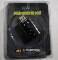 Placa de Som USB (nova)