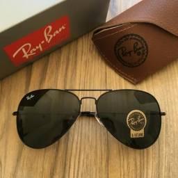 Óculos Ray Ban aviador preto