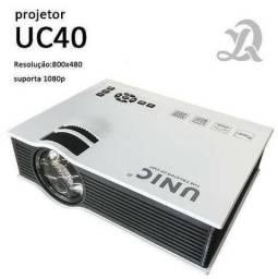 94ac061fa54 Mini Projetor Led Uc40 Portatil Hdmi Usb 1080p Usb Mod 2018