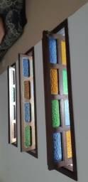 Porta madeira maciça com 3 janelas basculantes